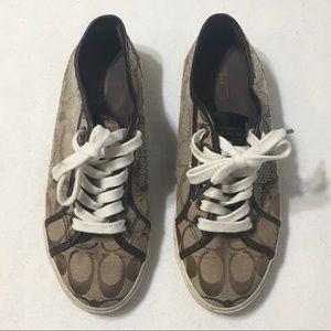 Coach Signature Kameron Sequin Lace Up Sneakers